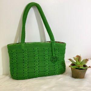 The Sak Green Crochet Bag, EUC